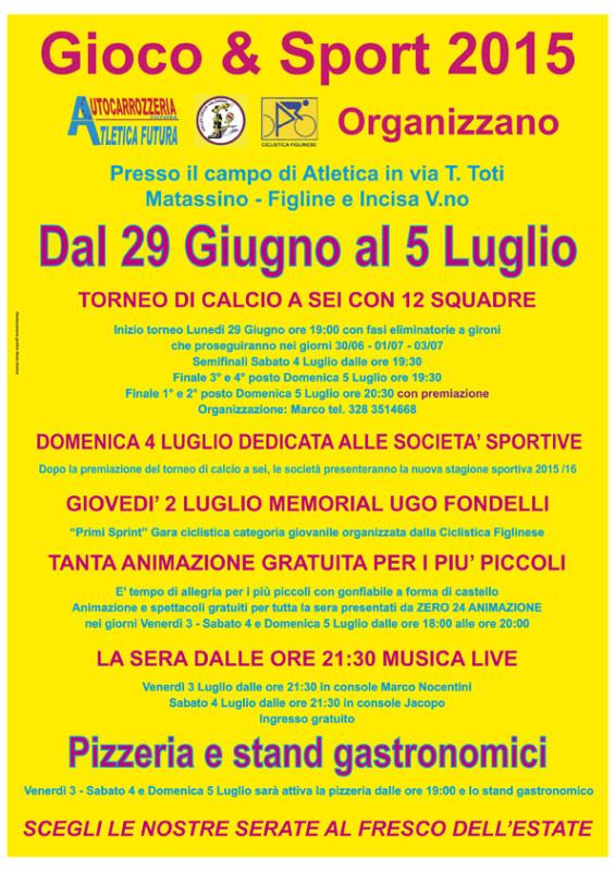 Poster Gioco e Spert e Gastronomia Atletica Futura